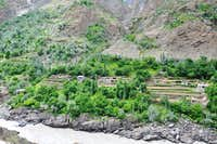 A beautiful Village on Gilgit Skardu Road and Indus River