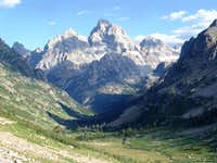 Grand Tetons from Paintbrush Divide Trail