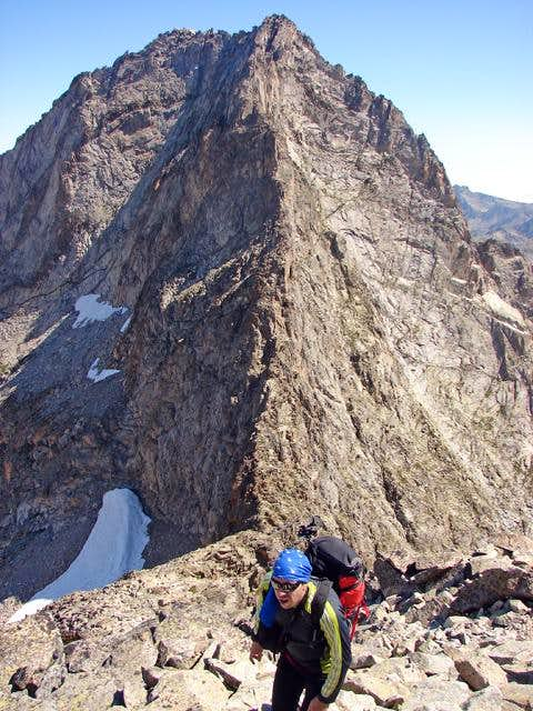 Ridge to summit