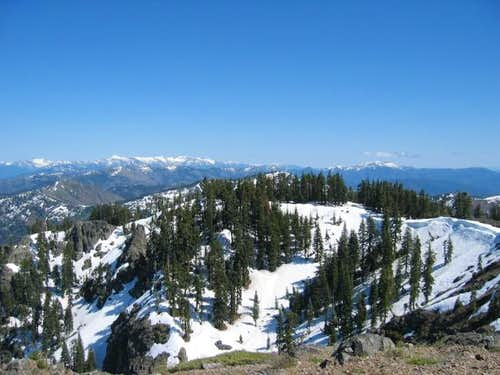 The Trinity Alps, as seen...