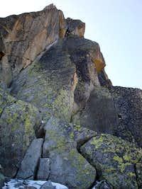 Aiguille de l'M NNE Ridge: Pitch 4