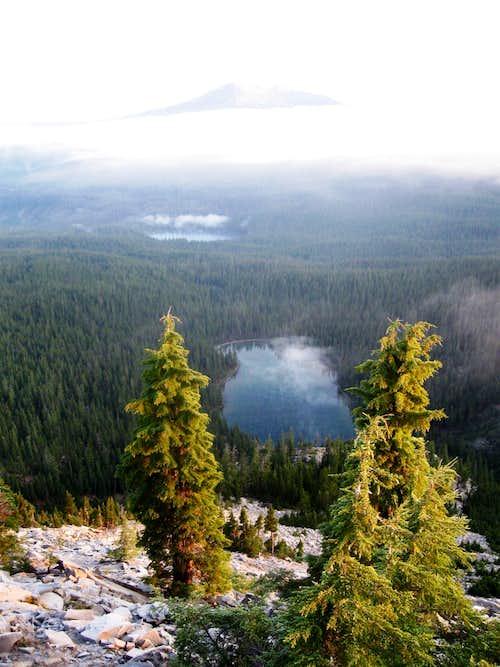 Indigo Lake,Timpanogas Lake and Diamond Peak