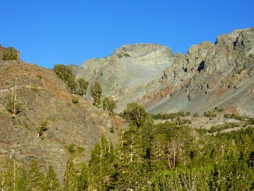 Peak 11568 from the trailhead