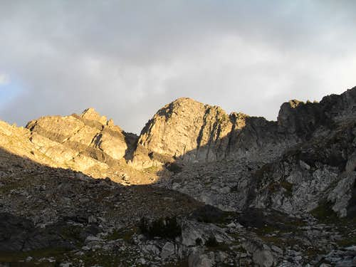 Beehive Peak at sunrise