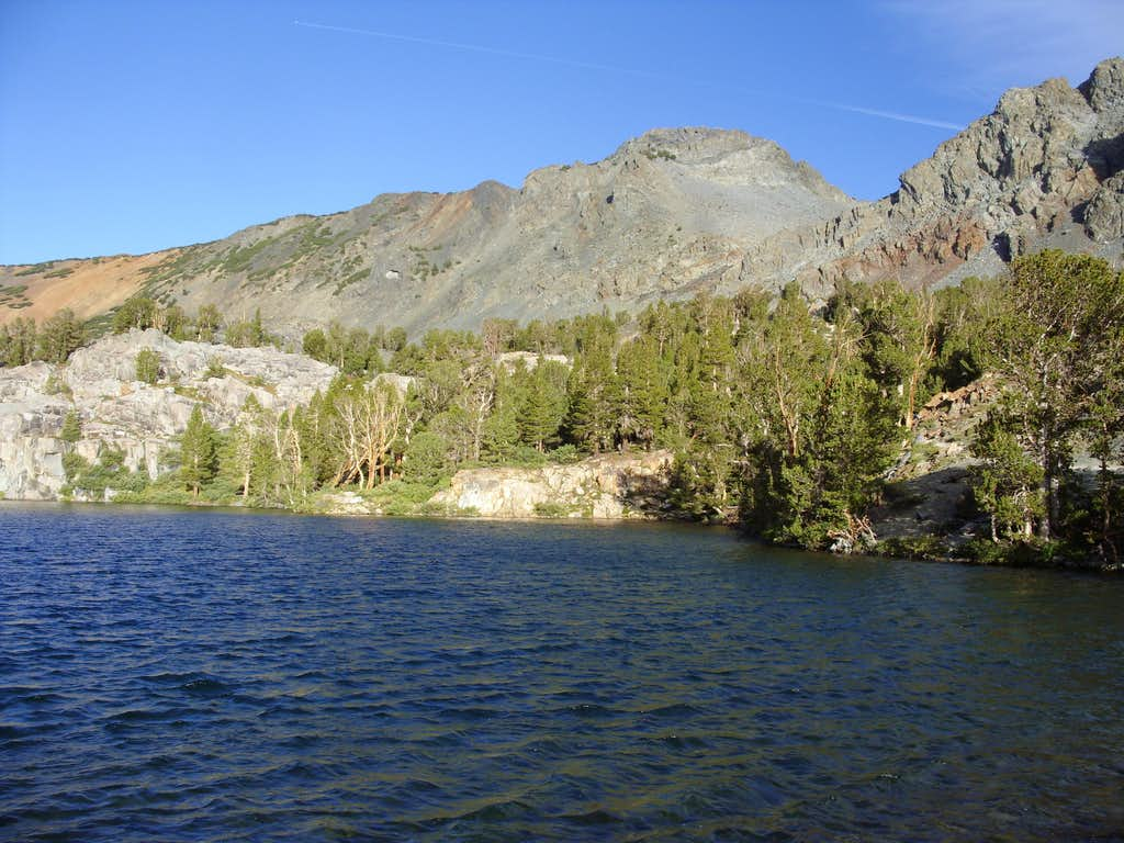 Peak 11568 from Cooney Lake