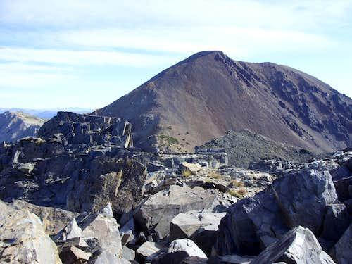 Dunderberg Peak (12,374') from Peak 11568