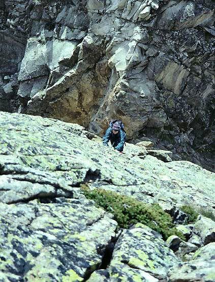 Hochschijen South Ridge crux pitch