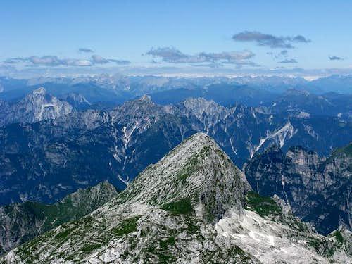 Fantastic NW view from Visoki Kanin