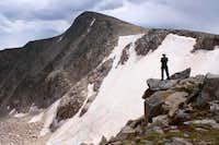 Hallett Peak and Tyndall Glacier