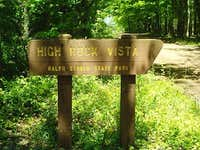 High Rock Vista Sign
