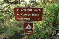 Crescent Beach sign