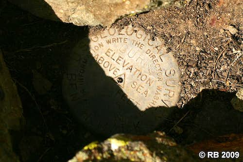 McCann Creek Mountain benchmark