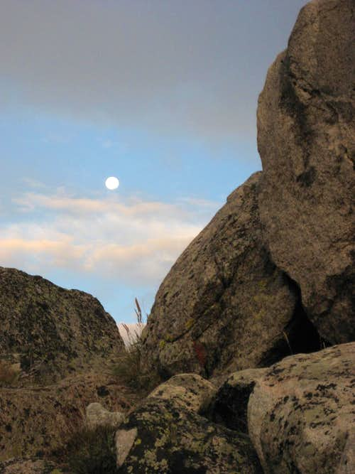Moon in the Boulders