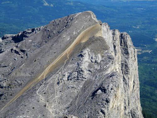 Closeup of Yamnuska from West