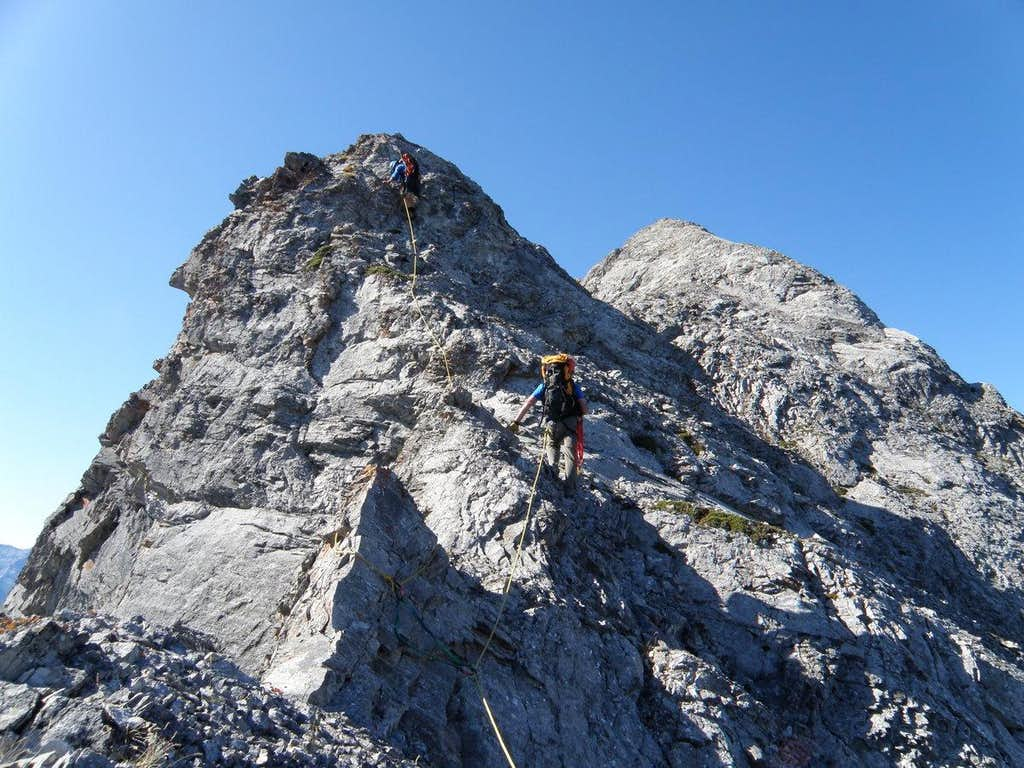 Second bump on Peak 2, Goat Traverse