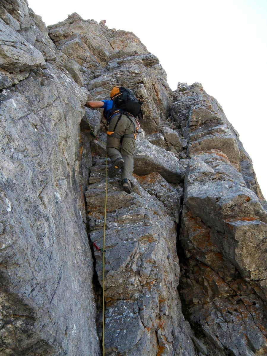 Climb on Unamed peak 6