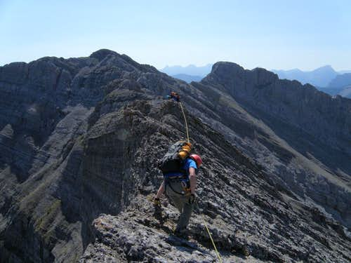 Scrambling middle section - goat Traverse