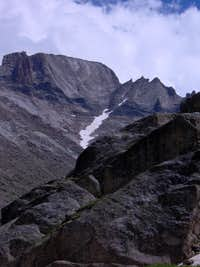 Snow in Longs Peak Trough