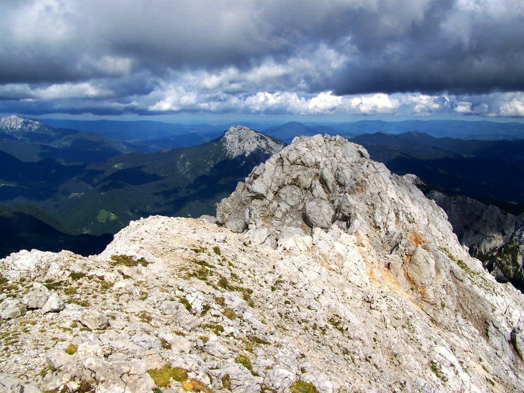 The peak of Ojstrica