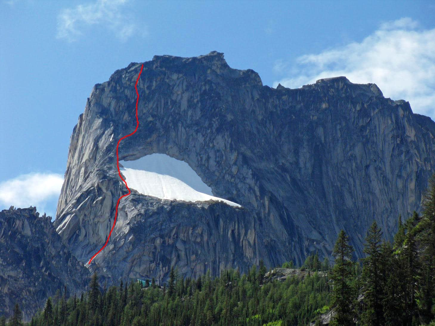 Snowpatch Route, IV, 5.8, 19 Pitches
