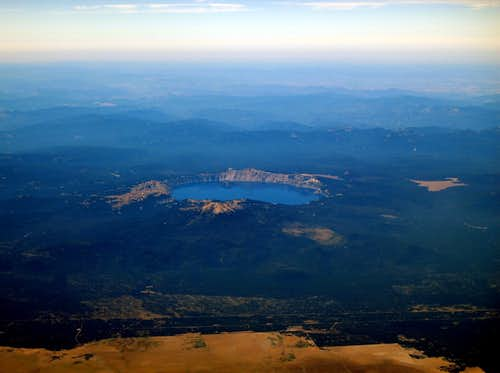 Crater Lake from 36,000 ft