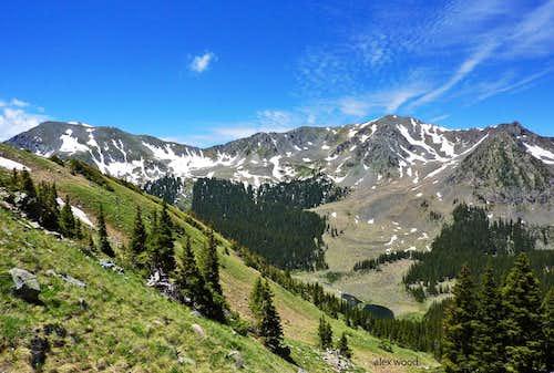Bighorn Peak and Lake Fork Peak