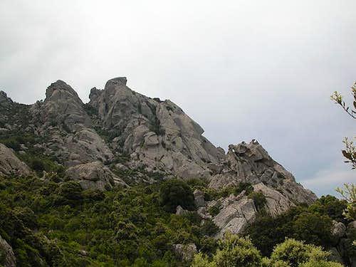 Punta Cugnana (650m), seen...