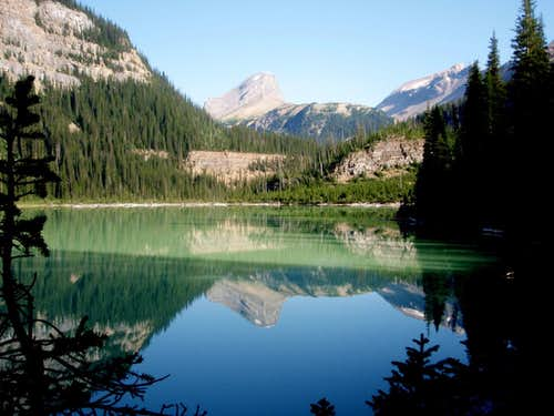 Mount Niles reflected in Sherbrooke Lake