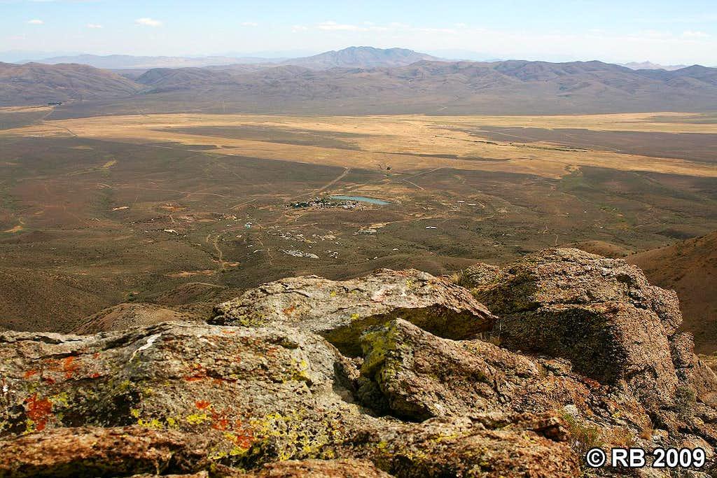 Tuscarora view from Mount Blitzen