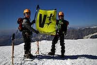 Unai and Jon on the summit of Breithorn  !!!