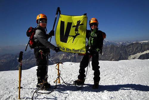 Unai and Jon on the summit of Breithorn  !!!