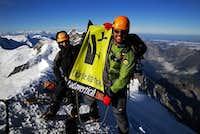 Jon Cruces on the summit of Monch !!