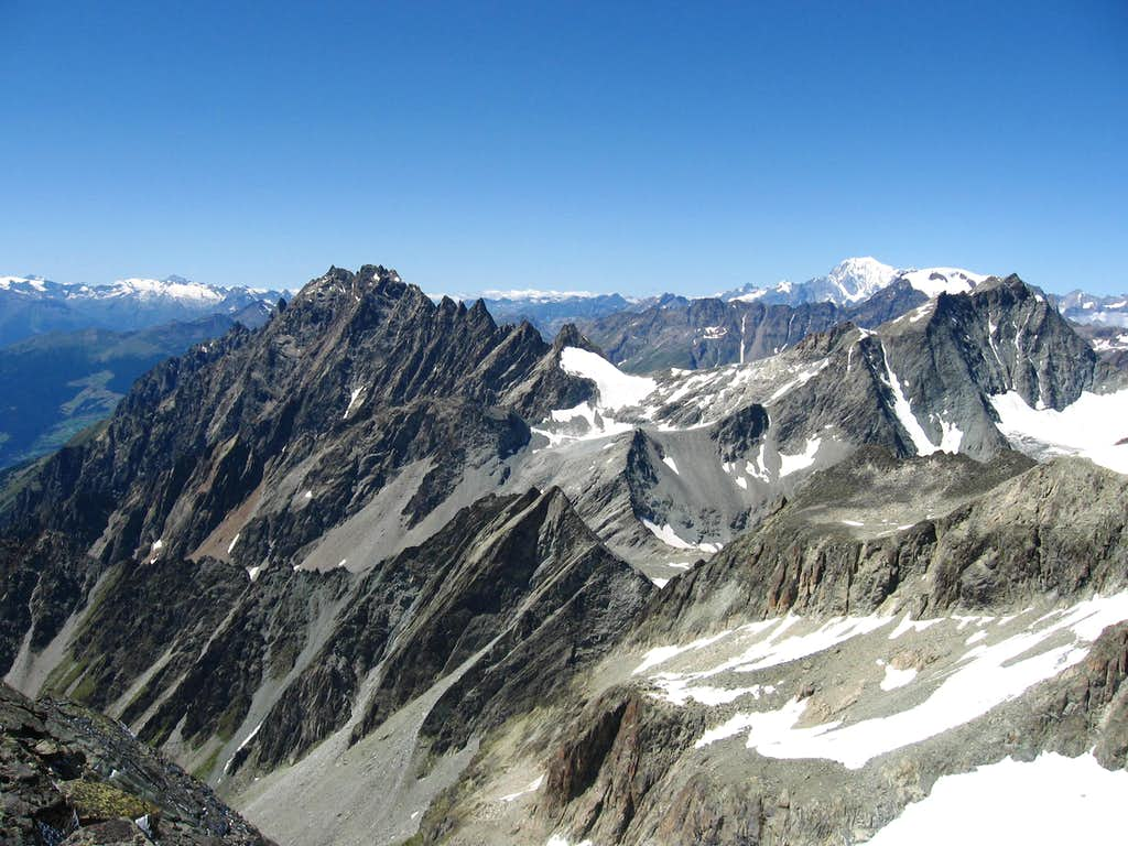 The Mont Morion and Mont Gelè.