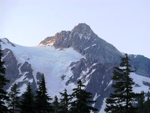 Mt. Shuksan from SW (Baker parking lot) 7-3-09