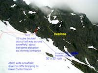 Shuksan-entrance to Fisher's Chimneys 7-3-08