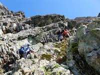Shuksan-Climbing Fisher's Chimneys 7-3-09