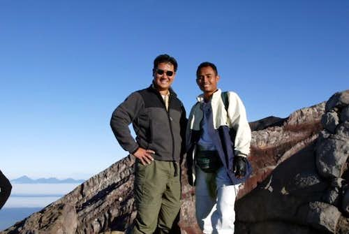 Me and Mudi, my guide, at the...
