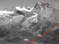 Normal route to the Hübschhorn