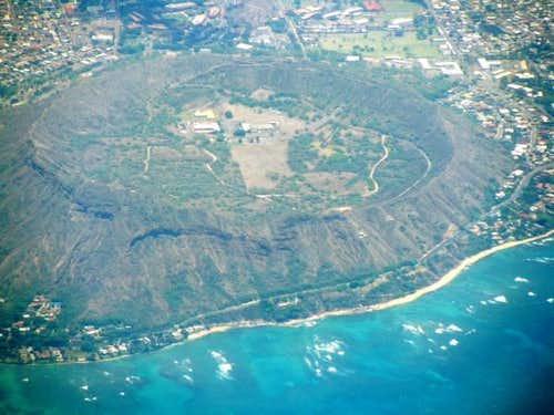 Crater from the air