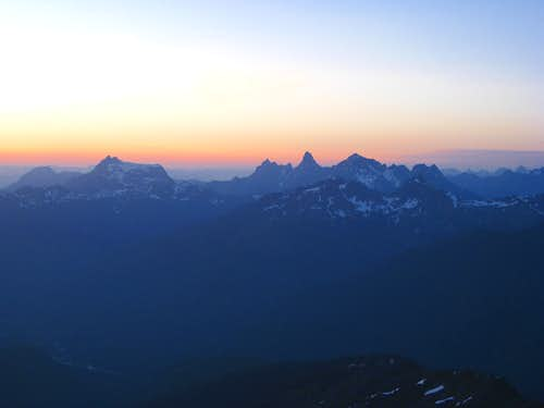 Sunset from Mt Shuksan camp 7-3-09