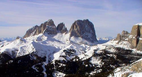 Langkofel group W from Sella