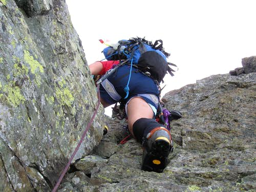 Shuksan-last few moves to summit