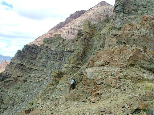 Jeff on the Ledges of South Maroon Peak