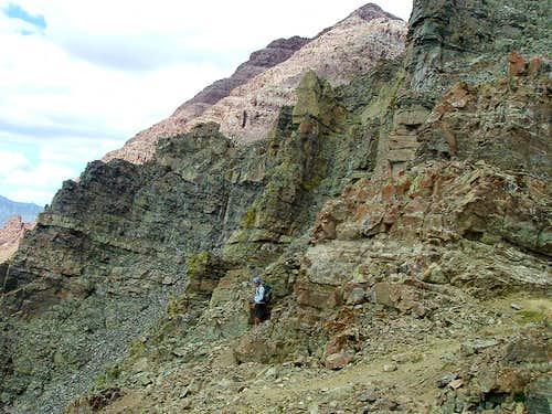 Jeff on the Ledges of South Maroon Peak