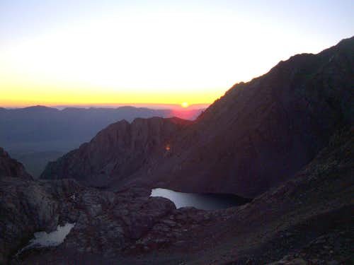 Sunrise on the switchbacks