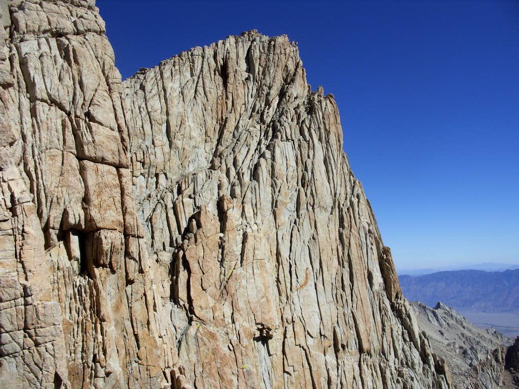 Spire along the summit ridge to Mount Whitney
