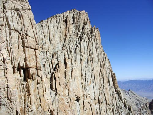Spire along the summit ridge to Mount Whitney