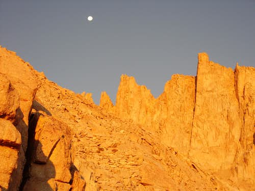Trail Crest and the moon