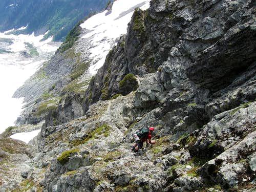 Shuksan-Decending the Fisher's Chimneys 7-4-09