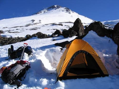 Camp at 10200 ft below the...